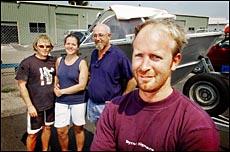 Graham Winning and fellow anglers Dave Winning, Raina Gerlech and Warren Kempton