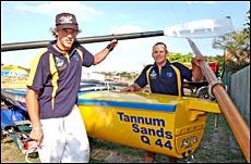 Tannum Turbos crew members Shannon Chynoweth and Tony Davis