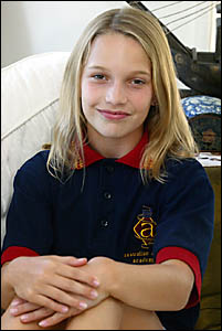 Eleven-year-old Ebony Sayer of Robina has scored one of 14 coveted scholarships with the Australian Acting Academy.