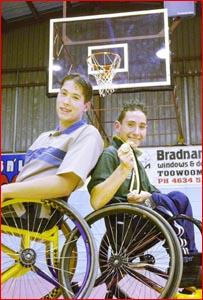 Luke McErvale (left) and Josh Horner preparing for a busy 2005. Picture: NEVILLE MADSEN