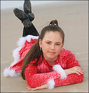 Twelve-year-old singer Lauren Clare is bracing for a future as a recording star following record company interest.