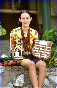 Speed skater Karlea Boyd starred at the Queensland Speed Skating Championships