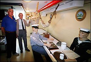 SHIP AHOY! Ballina Naval Museum curator Merv Stevens, left, and museum president Keith Barry