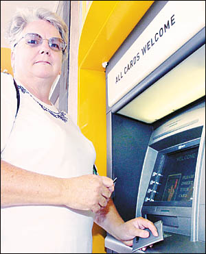 Ingrid Oskarsen, from Bangalow, is cautious when she uses an ATM, but is not overly worried about using them.