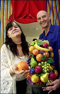 FLAIR: Exploring The Fruit Bowl areErif Benham, left, and Brett Paradise.Picture: MARC STAPELBERG