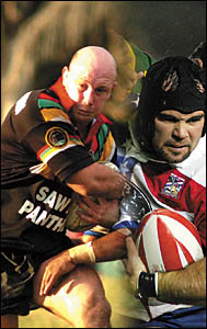 Sawtell captain-coach Craig Wallace, left,  will be a likely starter against the USA Tomahawks