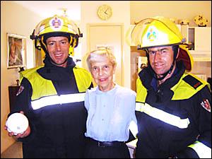 Byron Bay firefighters, Scott Biber and Phil Bigger.