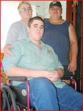 Jean Niebling, and sons Phillip and Damien. Picture: NICOLE BELL