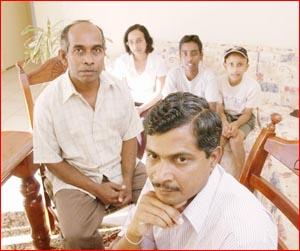 The Padukka family is still anxious.  Picture: NEVILLE MADSEN
