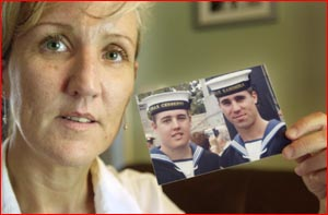 Katrina Grieves with a picture of sons, Matthew and Todd. Picture: BEV LACEY