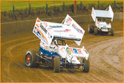 American Jason Johnson will take part in the World Series Sprintcar event at Charlton Speedway. Picture: SUPPLIED