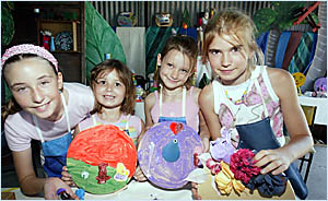 From left, Laura Day, aged 11, Bree Cook, 6, Sabrina Nikkelson, 6, and Krystall Nikkelson, 10.