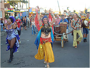 It may not have been big, but the New Year?s Eve parade, which made a comeback, was colourful.