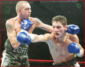 Former world champion Stefano Zoff (left) shapes as a probable opponent for  Michael Katsidis. Picture: GETTY IMAGES