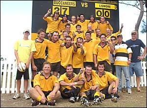 The Buccaneer thirds celebrate their grand final win.