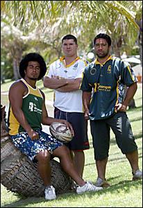 Cook Island recruits Leroy Faavesi, Graeme Jeffries and Danny Maireroa.