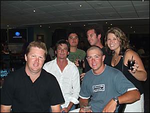 SAY CHEESE: Punters pose for the camera at Yamba Golf Club
