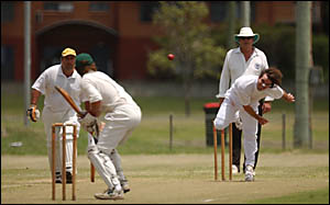 Harwood all rounder Craig Moran, pictured bowling, must do the job with the bat this week.