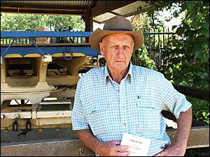 ON THE STUMP: Bush poet and former South Grafton resident Hunter Kilner.