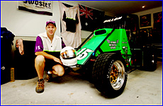 Darren Dillon is chasing a second national title after securing a compact speedcar victory.