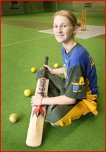 Toowoomba indoor cricketer Kimberley Peach will represent Australia in South Africa in April. Picture: NEVILLE MADSEN
