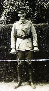 GILBERT Bennion stands proud in his uniform during his World War I service