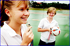 Sally Heymer (left) and Emma King have shown skill as players and umpires.
