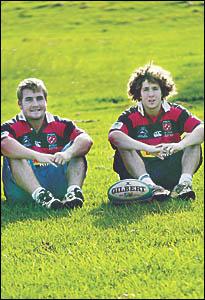 Aaron Burnett, left, and Brad Marsh  are both joining Sydney club Warringah.