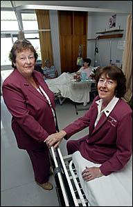 Murwillumbah Hospital chaplins Tricia Miller and Cathy Hulme.
