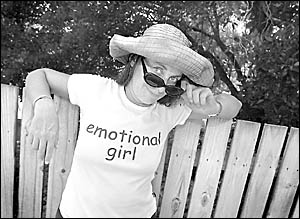 FRONTING UP: Byron mayor Jan Barham pictured proudly wearing her ?emotional girl? T-shirt.