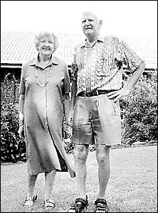 Lennox Head Residents? Association president Brian Smith and his wife, Judy, outside their Lennox Head home.