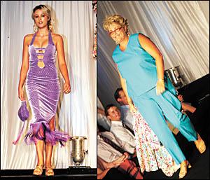 Model Jessica Freer parades an original design from Dorrigo designer Niki Naylor?s In the Nik label.