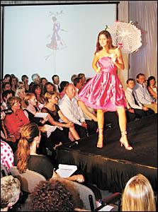 Megan Skinner models a Sia Bella design by winning designer Violet Miklos.
