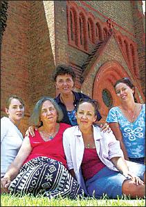 Miriam and Angela Martello, Angela Dalu, Michele Marychurch,  and Heather Barrett.