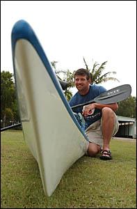James Warne is canoeing around Australia.