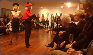 Grafton Regional Gallery director Jude McBean with The Gallery Foundation directors.
