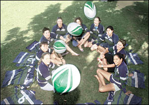 NEW RECRUITS: The new Lismore City women?s rugby team.