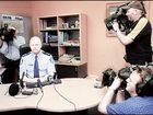 MEDIA WATCH: Lismore Police local area commander Superindent Bruce Lyons is questioned by media yesterday