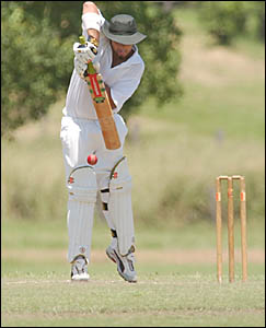 HITTING FORM: South Services skipper Brett Woods continued his good from from Saturday with a sensational half century