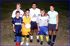 Uruguayan international Washington Gonzalez with Caitlin Bray, Andy Bates, Zach Vuksanovic, Kelly Searston and Jaimi Andrews.