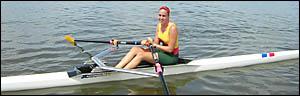 Arrawarra?s promising rower Ashleigh Peppernell.