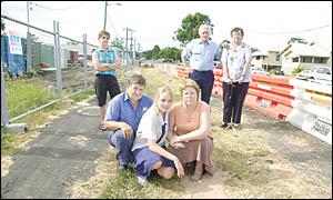 Diadem Street residents, from left, Cheryl Solomon, David Martin, Alicia Martin, Robyn Martin and Edgar and Kath Glasby.