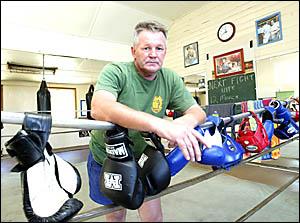 Murwillumbah Boxing Club trainer Stu Stone.
