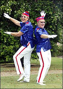 JOY Pettit and Pam Sherwood looking forward to dancing to Glen Miller?s wartime favourite tune, American Patrol.