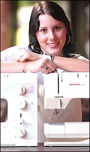 MATERIAL GIRL: Rebecca Dunstan harbours dreams of becoming a designer.