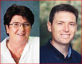 Mayor Dianne Thorley and Cr Lyle Sheldon