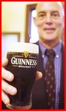 Dr Garrett FitzGerald enjoys a Guinness. Picture: KATIE FINN