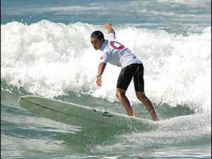 Young surfer on national campaign