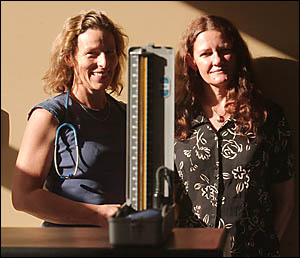 Cathy Avila and Julie St. Aubyn promote the study into symptoms of PMS.