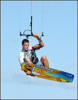 Gold Coast competitor Paul Jackson is just one of a number of kiteboarding stars  coming to  Coconet Classic.